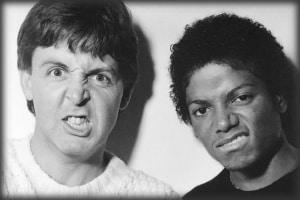 Paul McCartney y Michale Jackson