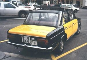 El color de los taxis de Barcelona