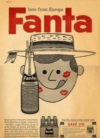 Cartel vintage de Fanta