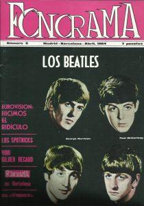 Revista Fonorama, portada con The Beatles Los Beatles en España