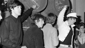 Los Beatles promocionando vino de Jerez Los Beatles en España
