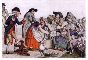 Campesinos preparando café en Francia