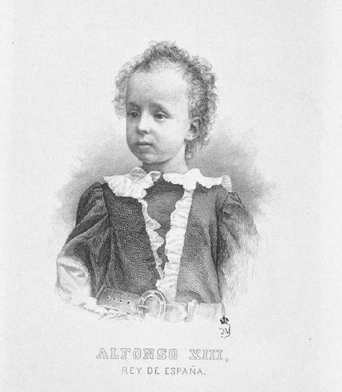 El niño Alfonso XIII