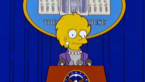 Lisa Simpson, presidenta de los Estados Unidos