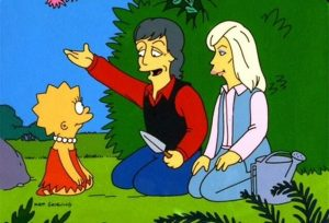 Paul y Linda McCartney en Los Simpson