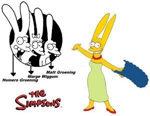 Las orejas de conejo de Los Simpson