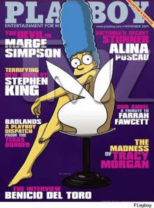 Marge Simpson, portada de Playboy