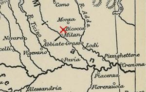 Mapa de la batalla de Bicoca