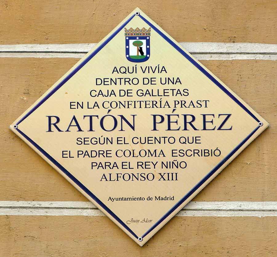 Placa conmemorativa Ratón Perez