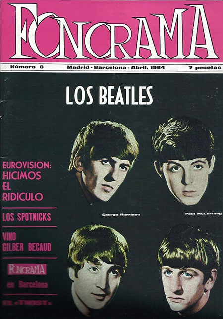 Revista Fonorama, portada con The Beatles