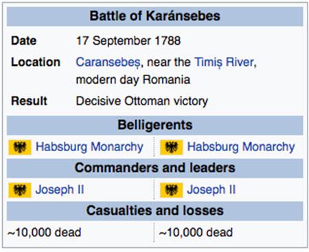 Balance de la batalla de Caransebes