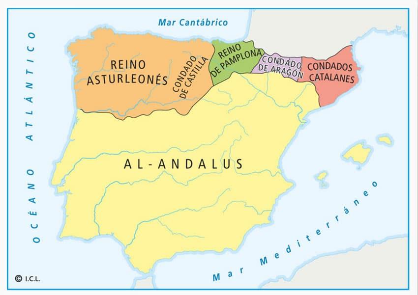 Mapa de la Península, siglo X - el café de la historia