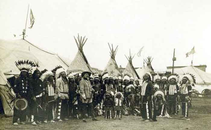 Circo de Buffalo Bill en Barcelona El campamento de la compañía de la calle Muntaner