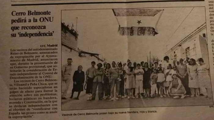 """""""Cerro Belmonte pedirá a la ONU que reconozca su independencia"""" el café de la historia"""