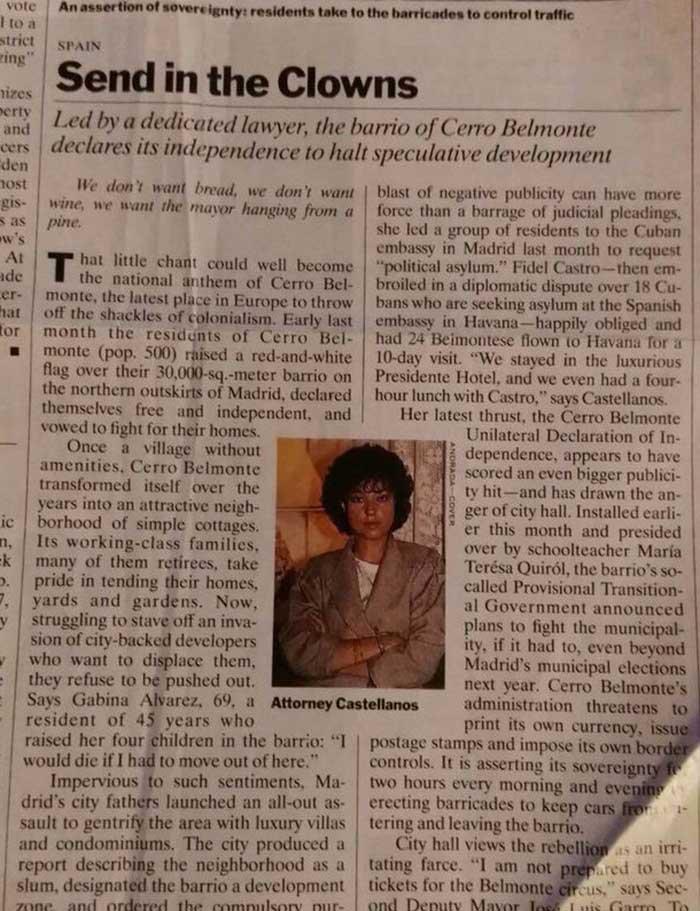 Cerro Belmonte, Times Magazine el café de la historia
