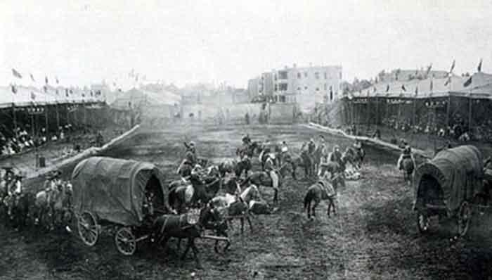 Circo de Buffalo Bill en Barcelona Desfile inaugural de la Buffalo's Bill Wild West en Barcelona