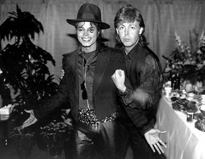 Paul McCartney y Michael Jackson
