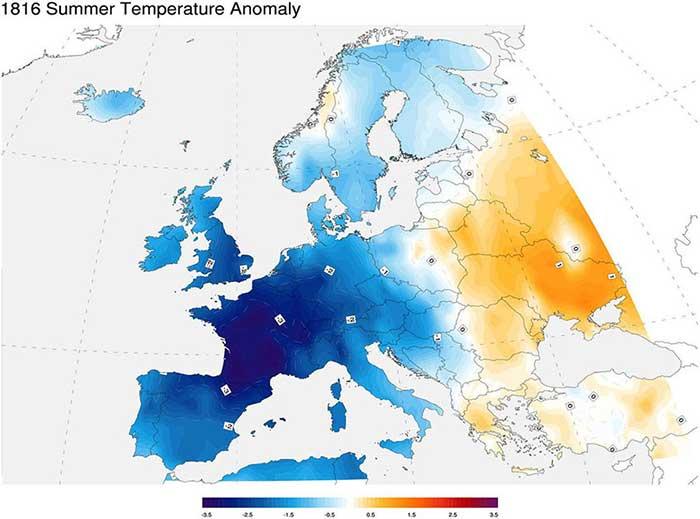 Mapa de la Edad de Hielo del Tambora