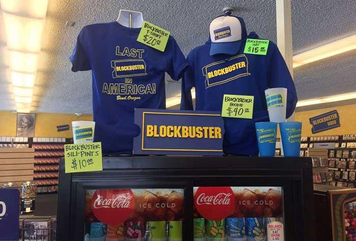 Interior del Blockbuster de Bend