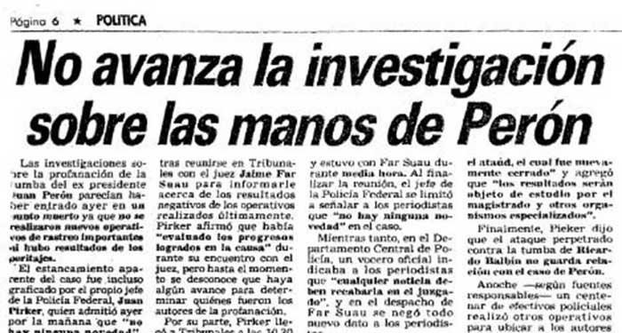 El robo de las manos de Perón - El café de la Historia