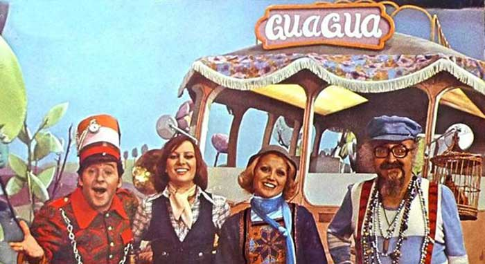 Torrebruno (Rocky Capuchetto), Paula Gardoqui (Linda), Raquel Rojo (Fermina) y Manuel de la Rosa (Don Redondón)