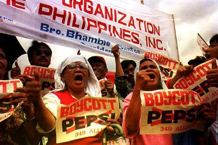 Protestas en Filipinas contra Pepsi 349