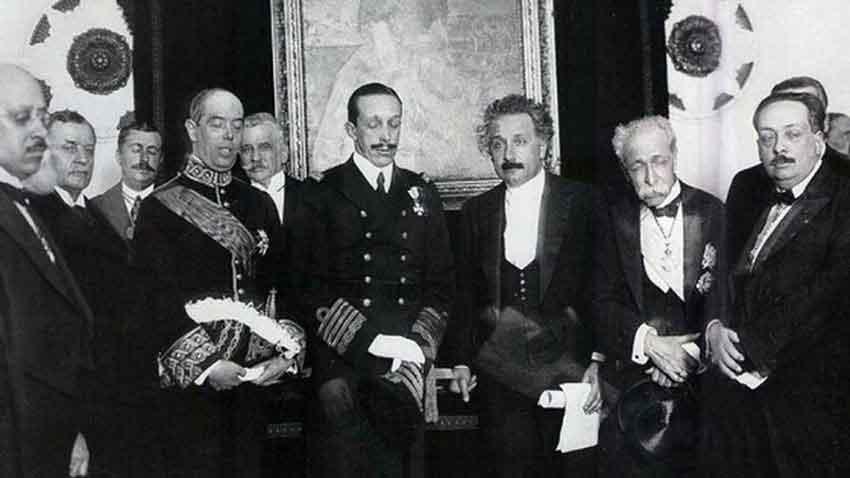 Einstein con Alfonso XIII
