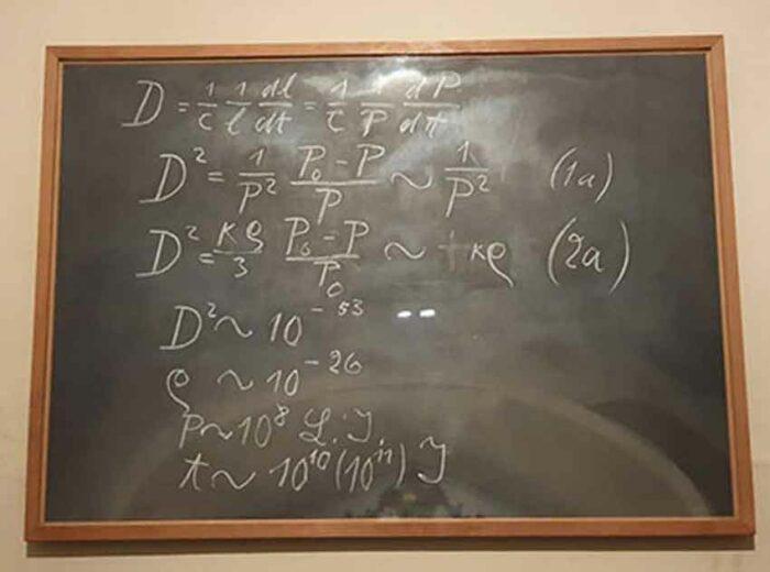 La pizarra de Einstein en Oxford