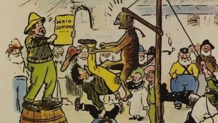El ahorcamiento del mono espía - el café de la historia