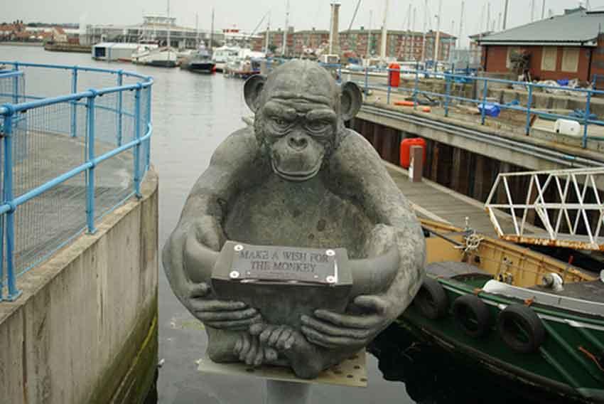 Estatua del mono en Hartlepool
