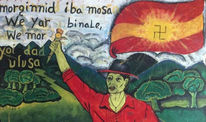 Mural reivindicativo Guna