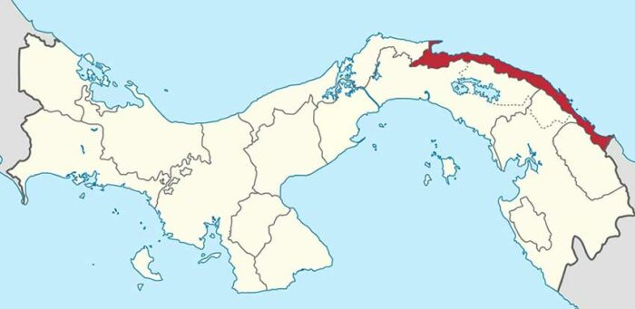 Localización de la actual comarca Guna Yala